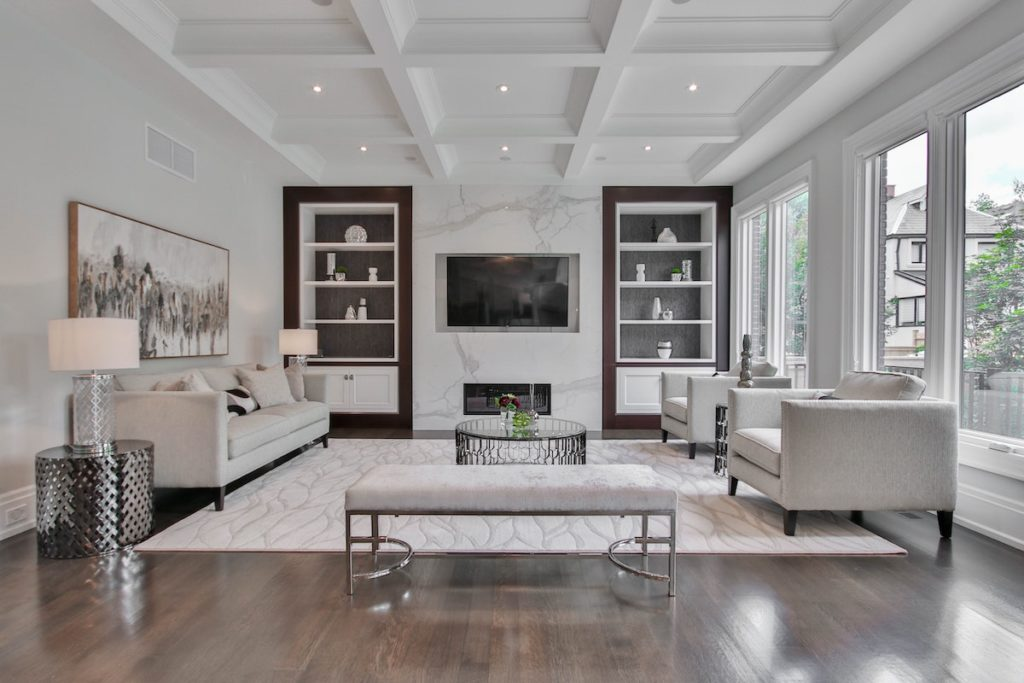 A deep cleaned living room   Helpro Cleaning Services Orlando, FL